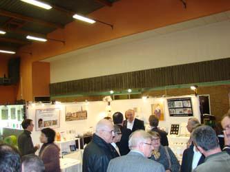 Visite du stand par Pierre bonte Parrain Artiart 2010