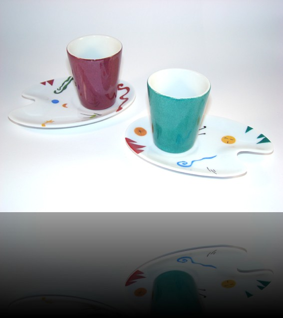 duo de tasses palette de peintre